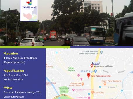 Billboard Di Bogor Jl. Raya Pajajaran Dekat Upnormal