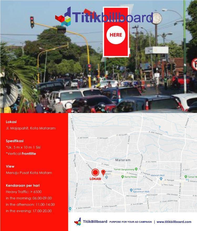 Lokasi Billboard Mataram Nusa Tenggara Barat