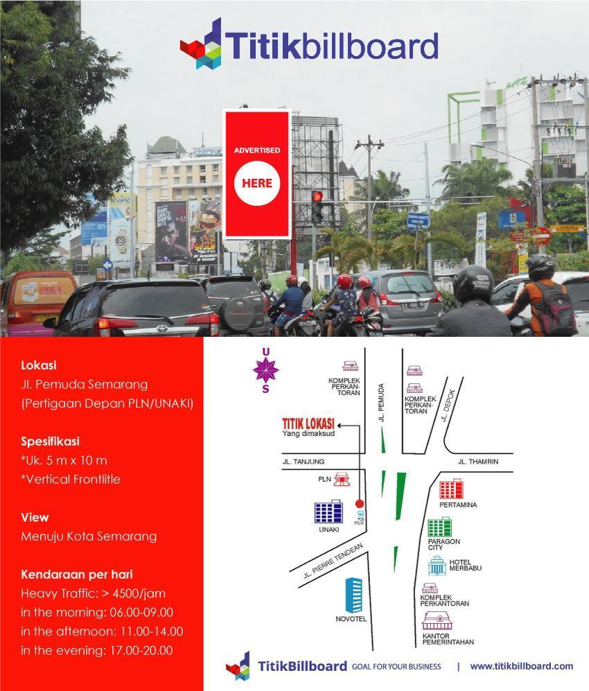 Lokasi Billboard Jl. Pemuda Kota Semarang