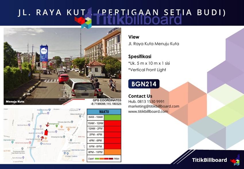 Lokasi Billboard Kuta Bali
