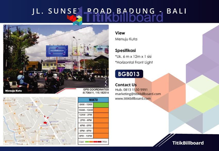 Lokasi Billboard Menuju Kuta Bali