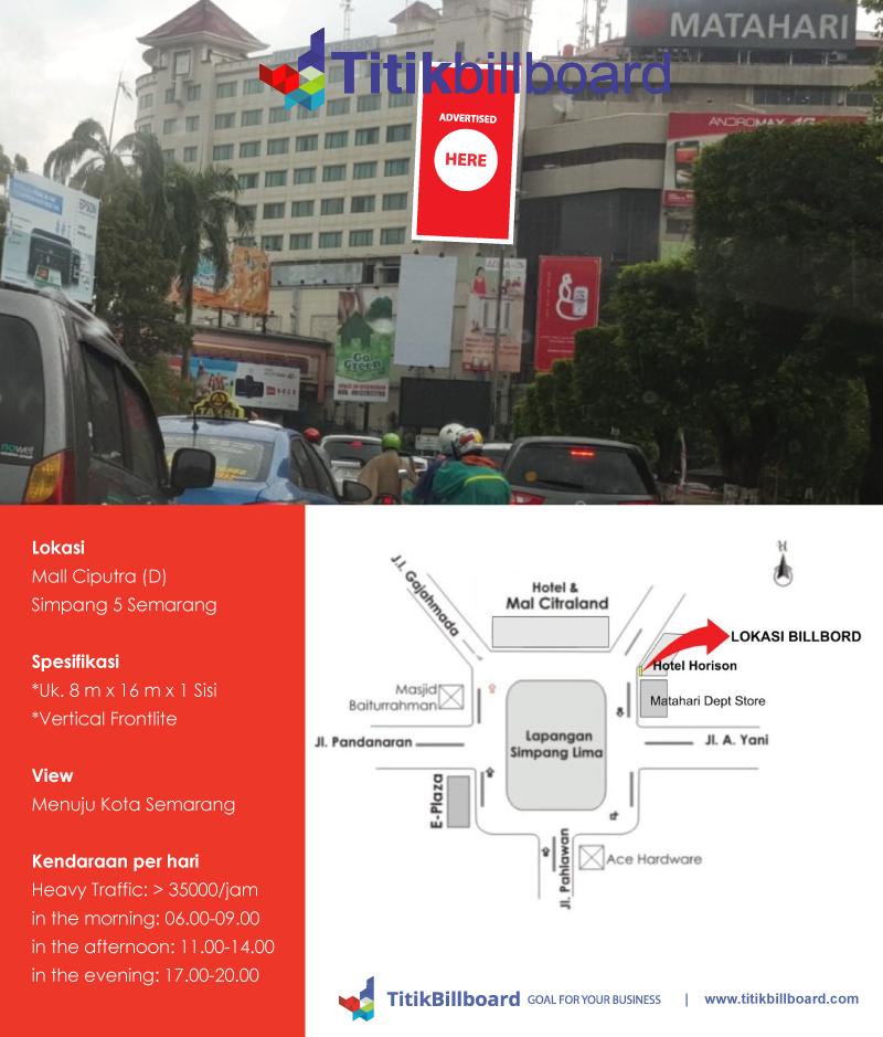 Lokasi Billboard Simpang Lima Semarang