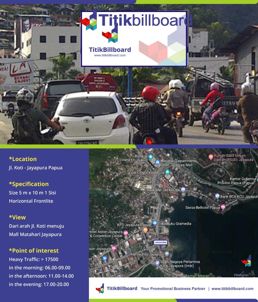 Lokasi Billboard Jayapura Papua