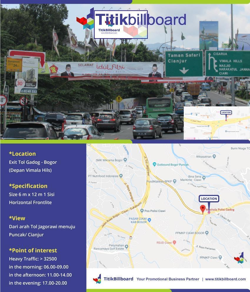 Sewa Billboard Di Exit Tol Gadog Bogor