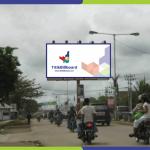 Sewa Billboard Sorong Jl. Basuki Rahmat - Perempatan Depan Bank Mandiri